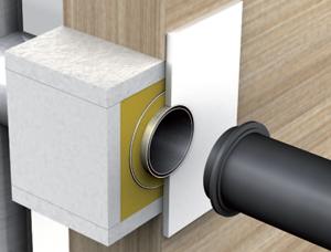 wanddurchf hrung f r schornstein und rauchrohr. Black Bedroom Furniture Sets. Home Design Ideas